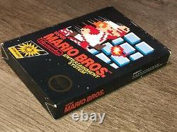Super Mario Bros Nintendo Nes Box Only No Game No Rev-a Hangtab Authentique