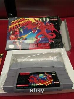 Super Metroid (super Nintendo, Snes) Complet Dans La Boîte Cib Authentic