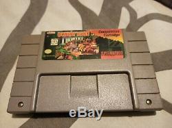 Super Nintendo Donkey Kong Country Compétition Saint Graal Authentique Rare