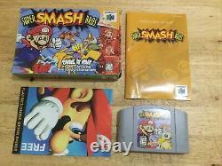 Super Smash Bros. N64 Nintendo 64 Complet Dans La Boîte Cib Original Authentic