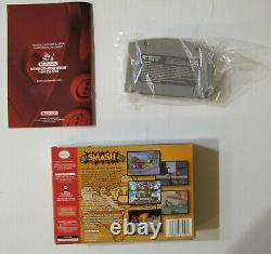 Super Smash Bros Nintendo 64 Complet Dans La Boîte Cib! Authentique Et Testé