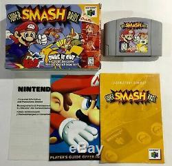 Super Smash Bros. Nintendo 64 N64 Authentique Boîte Originale Manuel Complet