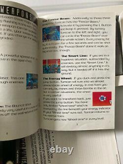 Super Turrican Super Nintendo Snes Cib Complete Authentic Avec Protecteur En Plastique