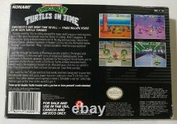 Tmnt IV Turtles In Time (super Nintendo Snes, 1992) Complete Cib Authentic