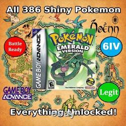 Unlocked Pokemon Emerald Cartouche Authentique Tous Les Pokemon Brillant Gba Ds