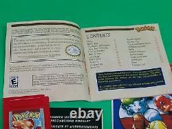 Version Rouge De Pokemon (game Boy, 1998) État Authentique Complet De La Menthe Nice