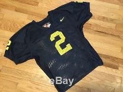 Vintage Authentique Nike Woodson Michigan Wolverines Football Game Jersey Sz 52