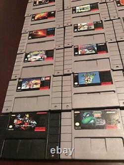 Vtg Nintendo Game Lot Snes/nes Mario, Zelda, Castlevania, Et Plus Encore! 100% Authentique