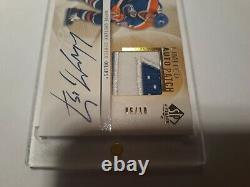 Wayne Gretzky Auto Patch Gem Oilers Jeu Utilisé 6/10 Upper Deck Sp Authentic