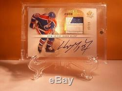 Wayne Gretzky Auto Patch Oilers Jeu Utilisé # 6/10 Upper Deck Sp Authentique 2012-13