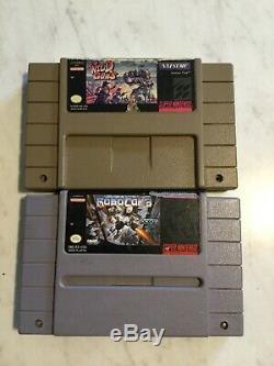 Wild Guns & Robocop 3 (super Nintendo, Snes) Jeux Authentiques Testés Lot