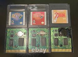 Zelda Gameboy Lot. Oracle Of Ages Seasons Liens Réveillez-vous Saves Authentiques DX