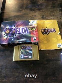 Zelda Majoras Masque Collectors Edition 64 Cib Nintendo 64 N64 Authentic Tested