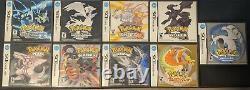 (lot De 9 Pokémon Ds) Mainline Authentique Jeux Ds Pokemon Cib Et Authentique